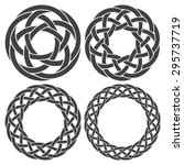 set of celtic knotting rings. 4 ... | Shutterstock .eps vector #295737719