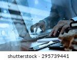 double exposure of designer... | Shutterstock . vector #295739441