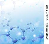 molecule illustration over blue ... | Shutterstock .eps vector #295745405