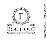 f letter logo  monogram design... | Shutterstock .eps vector #295745489