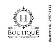 h letter logo  monogram design... | Shutterstock .eps vector #295745615
