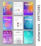 brochure design template set.... | Shutterstock .eps vector #295751081