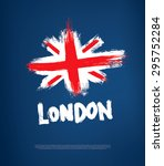 grunge great britain flag | Shutterstock .eps vector #295752284