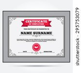 certificate of completion.... | Shutterstock .eps vector #295753079