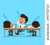cartoon business team falling... | Shutterstock .eps vector #295753715