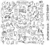 Baby Hand Drawn Doodle Set....