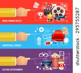 realistic cinema movie poster... | Shutterstock .eps vector #295755287