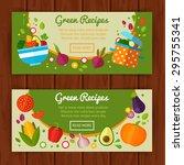 advertisement set of concept... | Shutterstock .eps vector #295755341