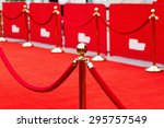 way to success on the red... | Shutterstock . vector #295757549