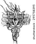lord shiva third eye sketch | Shutterstock .eps vector #295758395