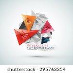 triangle shape modern paper... | Shutterstock .eps vector #295763354