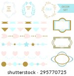set of vector romantic design... | Shutterstock .eps vector #295770725