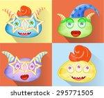 cartoon funny monsters ...   Shutterstock .eps vector #295771505