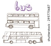 Hand Drawing Of Buses