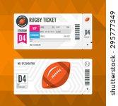 rugby ticket card modern... | Shutterstock .eps vector #295777349
