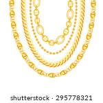 gold chain jewelry. vector... | Shutterstock .eps vector #295778321