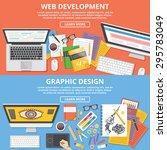 web development  graphic design ... | Shutterstock .eps vector #295783049