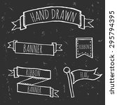 hand drawn doodle ribbons and... | Shutterstock .eps vector #295794395