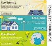 eco energy horizontal banner... | Shutterstock .eps vector #295799924