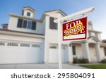 sold home for sale real estate... | Shutterstock . vector #295804091