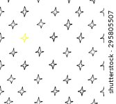 seamless hand draw star pattern.... | Shutterstock .eps vector #295805507