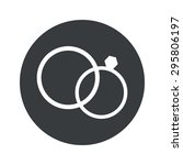 image of wedding rings in black ... | Shutterstock . vector #295806197
