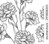 floral seamless pattern. flower ... | Shutterstock .eps vector #295808201