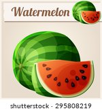watermelon. cartoon vector icon.... | Shutterstock .eps vector #295808219