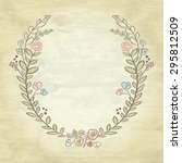 spring flower laurel branches.... | Shutterstock . vector #295812509