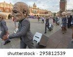 krakow  poland   jul 12  2015 ... | Shutterstock . vector #295812539