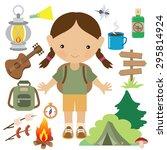 camping vector illustration | Shutterstock .eps vector #295814924
