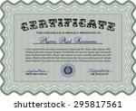 sample diploma. printer... | Shutterstock .eps vector #295817561