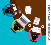 teamwork and brainstorming... | Shutterstock .eps vector #295824365