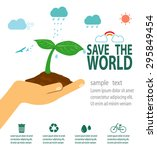 save the world concept   green... | Shutterstock .eps vector #295849454