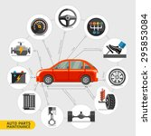 auto parts maintenance icons.... | Shutterstock .eps vector #295853084