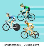 the group of cyclists man in... | Shutterstock .eps vector #295861595