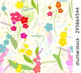 abstract flower seamless... | Shutterstock .eps vector #295864544