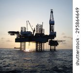offshore jack up drilling rig | Shutterstock . vector #295864649