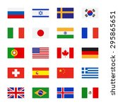 flags icons in flat style.... | Shutterstock . vector #295865651