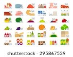 food market flat icons with... | Shutterstock . vector #295867529