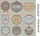set of sale price discount... | Shutterstock .eps vector #295870265