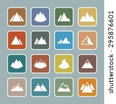 mountains icons for web | Shutterstock .eps vector #295876601