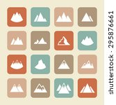 rock peak icons | Shutterstock .eps vector #295876661