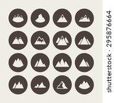 mountain icon set | Shutterstock .eps vector #295876664