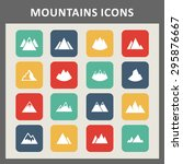 mountain icon set | Shutterstock .eps vector #295876667