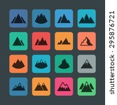 mountain icon set | Shutterstock .eps vector #295876721