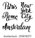 the custom hand lettering... | Shutterstock .eps vector #295878377