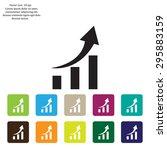 vector growing graph icon | Shutterstock .eps vector #295883159