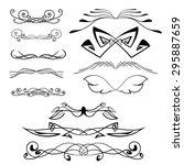 vector set of frames   Shutterstock .eps vector #295887659