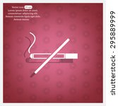no smoking sign vector | Shutterstock .eps vector #295889999